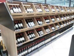 מידוף לבקבוקי יין